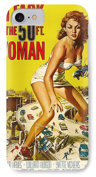 Attack Of The 50 Ft Woman 1958 IPhone Case by Mountain Dreams