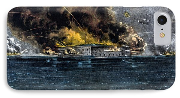 Attack On Fort Sumter IPhone Case by War Is Hell Store