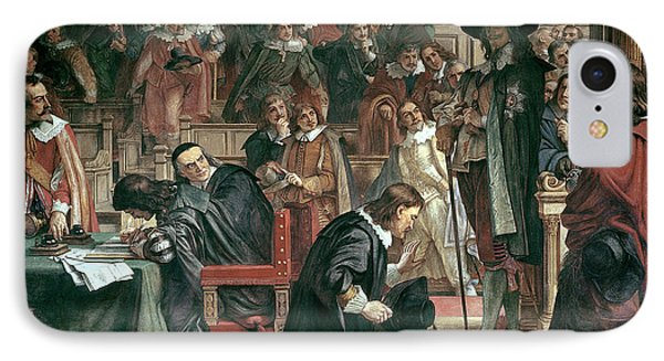 Attempted Arrest Of 5 Members Of The House Of Commons By Charles I IPhone Case by Charles West Cope