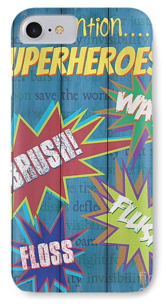 Attention Superheroes IPhone Case by Debbie DeWitt