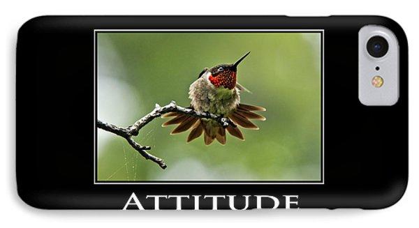 Attitude Inspirational Motivational Poster Art Phone Case by Christina Rollo