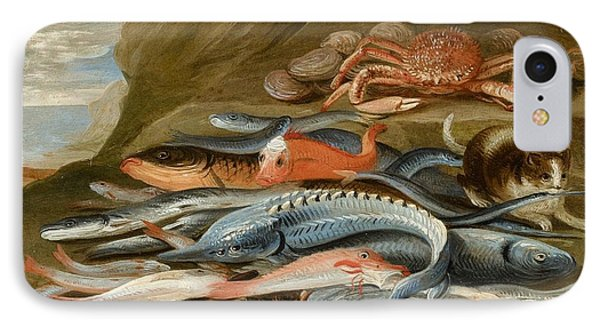attributed to Still Life with Fish IPhone Case