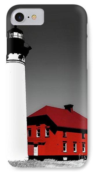 Au Sable Point Light Sc Phone Case by Tim Richards