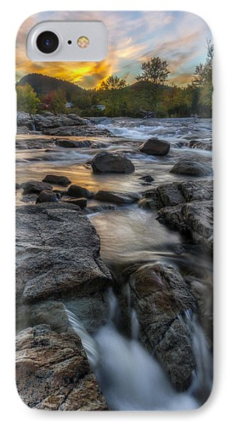 IPhone Case featuring the photograph Auasble River Sunset by Mark Papke