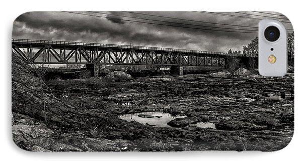 Auburn Lewiston Railway Bridge Phone Case by Bob Orsillo