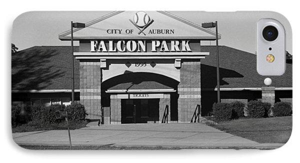 Auburn, Ny - Falcon Park Bw IPhone Case by Frank Romeo