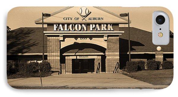 Auburn, Ny - Falcon Park Sepia IPhone Case by Frank Romeo