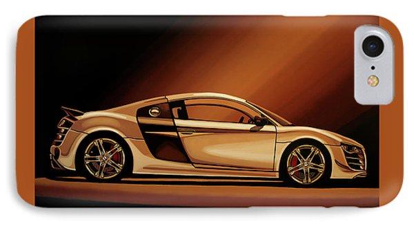 Car iPhone 7 Case - Audi R8 2007 Painting by Paul Meijering