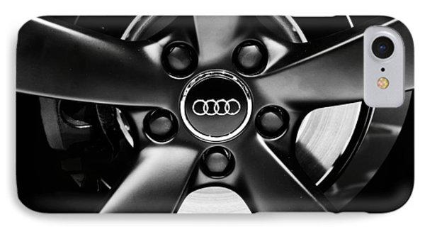 Audi Wheel  Monochrome IPhone Case by Rachel Cohen
