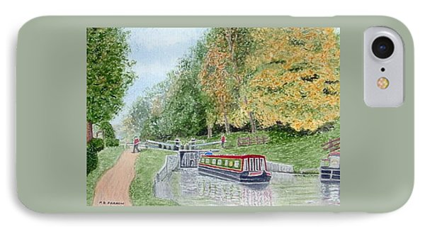 Audlem Lock, Shropshire Union Canal Phone Case by Peter Farrow
