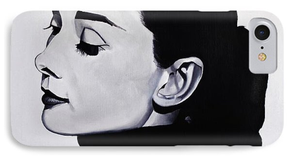 Audrey Hepburn 1 IPhone 7 Case by Brian Broadway