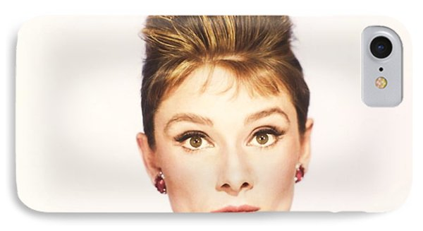 IPhone Case featuring the photograph Audrey Hepburn Breakfast At Tiffanys  by R Muirhead Art