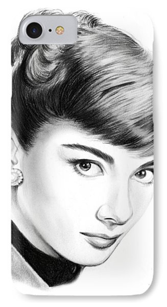 Audrey Hepburn IPhone 7 Case by Greg Joens