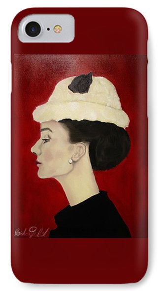 Audrey Hepburn Phone Case by Michael Kulick