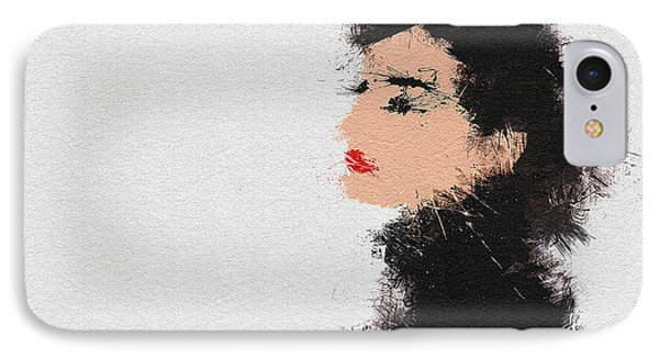 Audrey Hepburn IPhone 7 Case by Miranda Sether