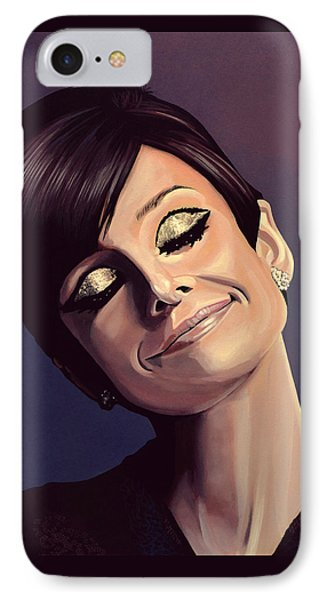 Audrey Hepburn Painting IPhone 7 Case by Paul Meijering