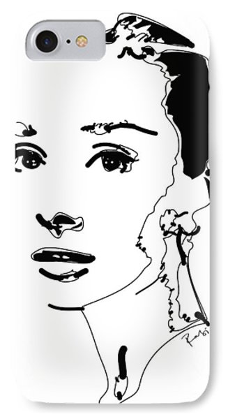 Audrey Hepburn IPhone Case by Rabi Khan