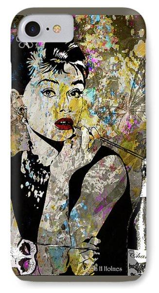 Audrey Hepburn Tribute  Phone Case by Angela Holmes