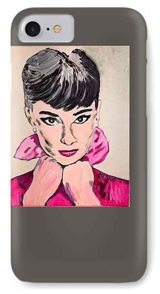 Audrey Hepburn IPhone Case by Valerie Ornstein