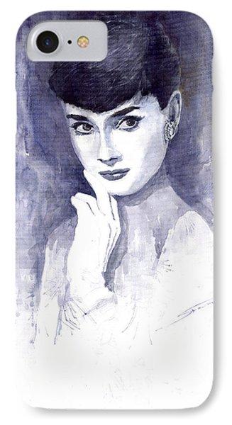 Audrey Hepburn  Phone Case by Yuriy  Shevchuk
