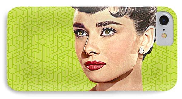 Audrey Hepburn_popart06-3 IPhone Case