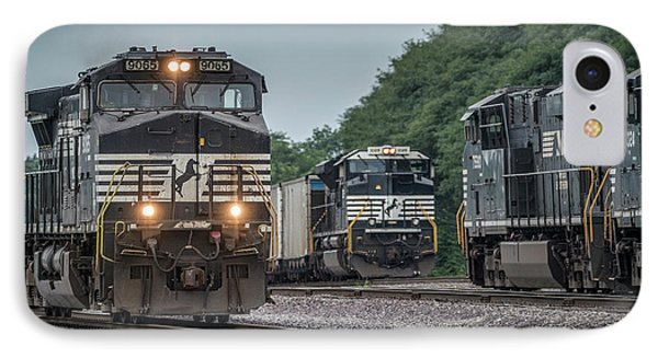 August 23, 2016 Norfolk Southern 9065 At Princeton In IPhone Case by Jim Pearson