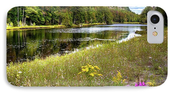 IPhone 7 Case featuring the photograph August Flowers On The Pond by David Patterson