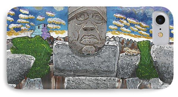 August  Olmec Head IPhone Case