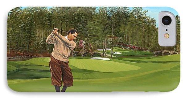 Augusta 11 And 12th Hole Bobbyjones IPhone Case by Tim Gilliland