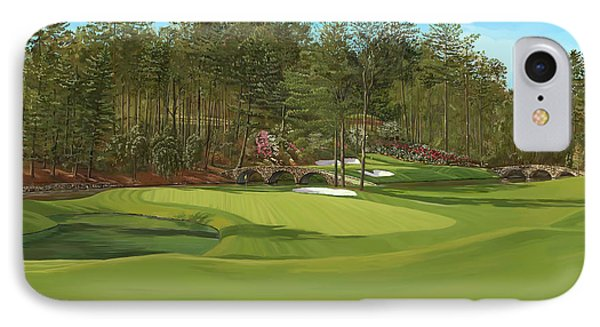 Augusta 11 And12th Hole IPhone Case by Tim Gilliland