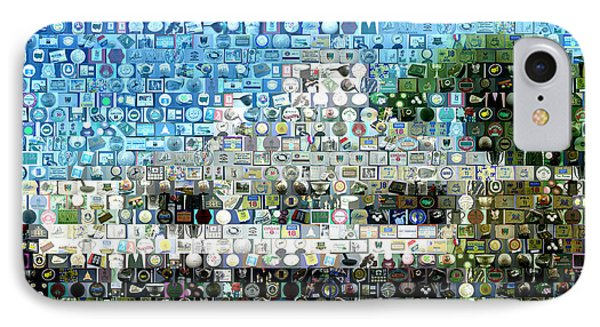 Augusta National Clubhouse Mosaic Phone Case by Paul Van Scott