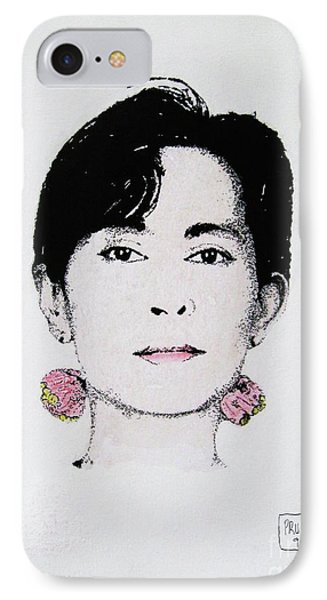 Aung San Suu Kyi IPhone Case by Roberto Prusso