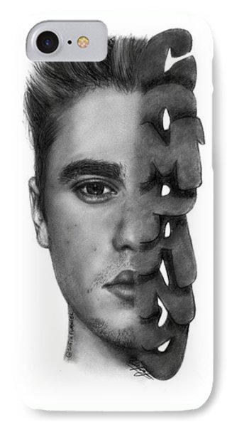 Justin Bieber Drawing By Sofia Furniel IPhone 7 Case