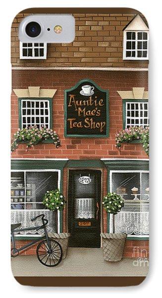 Auntie Mae's Tea Shop Phone Case by Catherine Holman