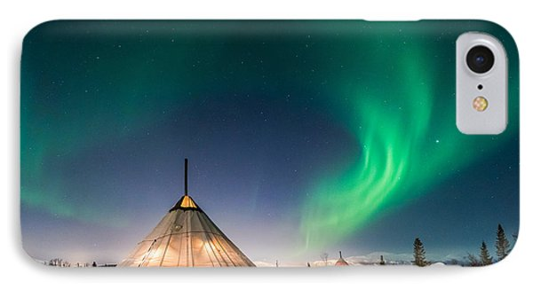 Aurora Above Sami Tent IPhone Case