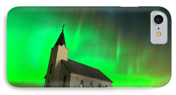 Aurora And Country Church IPhone Case