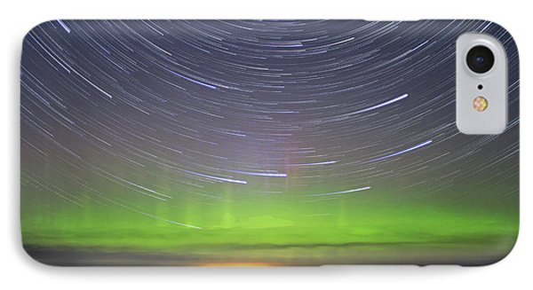 Aurora And Startrails IPhone Case by Charline Xia