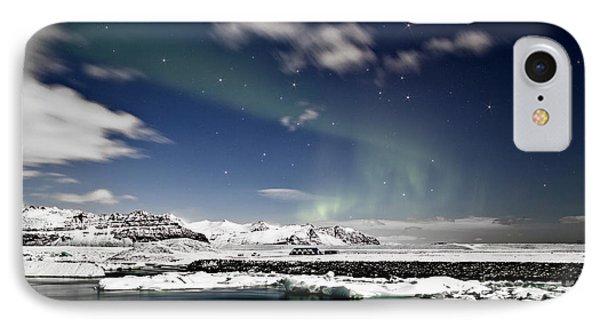 Aurora At Glacier Lagoon Phone Case by Roddy Atkinson