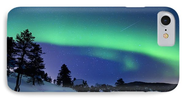 Aurora Borealis And A Shooting Star IPhone Case