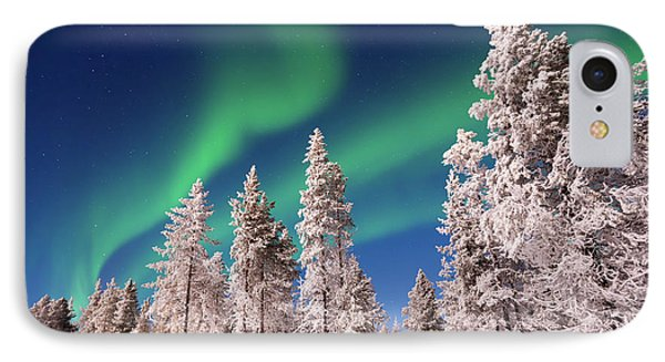 IPhone Case featuring the photograph Aurora Borealis by Delphimages Photo Creations
