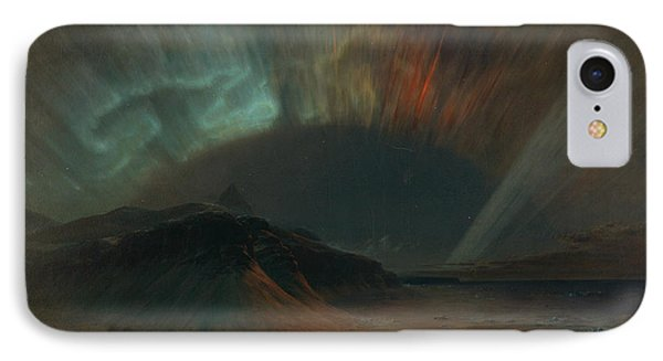 Aurora Borealis IPhone Case by Frederic Edwin Church