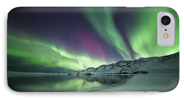 Aurora Borealis In Iceland Phone Case by Arnar B Gudjonsson