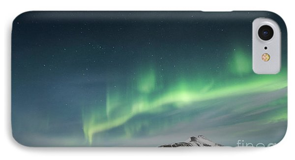 IPhone Case featuring the photograph Aurora Borealis Over Iceland by Sandra Bronstein