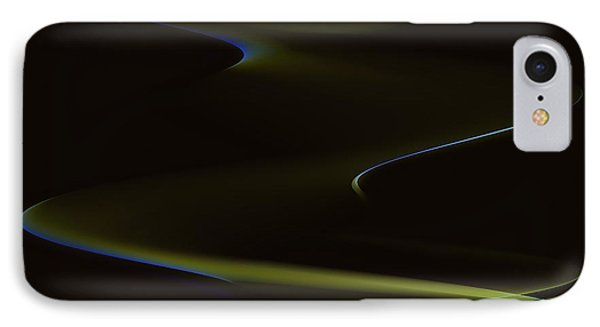 Aurora Borealis Over The Sand Dunes Phone Case by Angela A Stanton