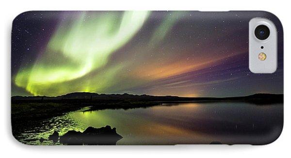 Aurora Borealis Over Thinvellir IPhone Case