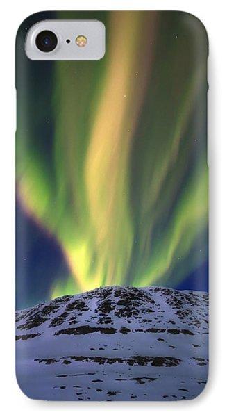 Aurora Borealis Over Toviktinden IPhone Case