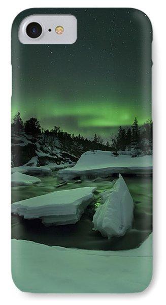 Aurora Borealis, Tennevik River, Troms IPhone Case