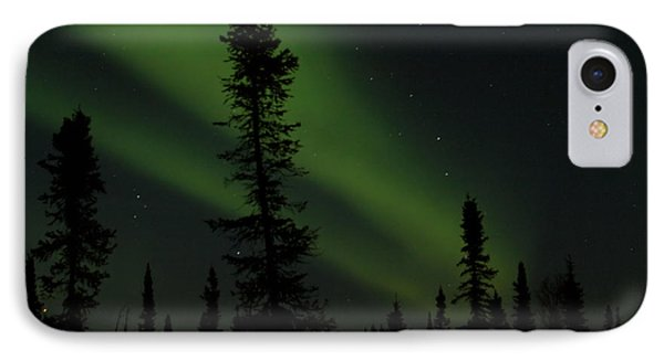 Aurora Borealis The Northern Lights Interior Alaska IPhone Case by Sharon Mau