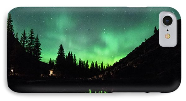 Aurora On Moraine Lake IPhone Case by Alex Lapidus