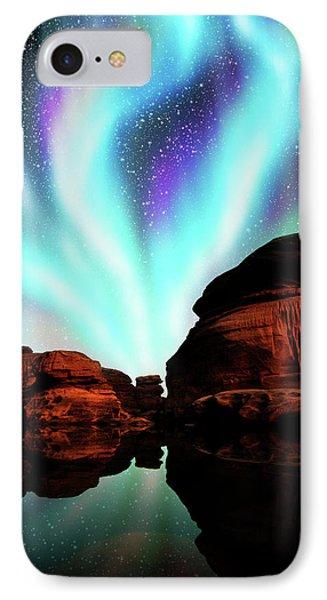 Aurora Over Lagoon IPhone Case